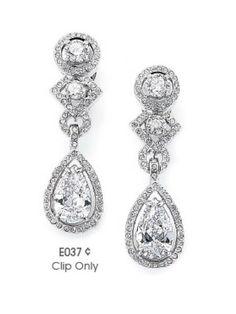 Clip On Earrings Cubic Zirconia Jewelry Tender Romance