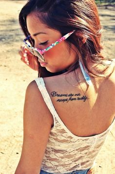Love the letting but different quote and opposite shoulder for me