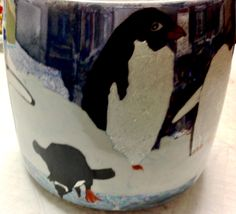 Penguins on a Cookie Jar by Jillian Varga Cookie Jars, Penguins, Porcelain, Painting, Art, Art Background, Porcelain Ceramics, Painting Art, Kunst