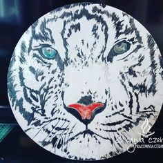 """Raku """"White Tiger"""" by Z ognia czerpane"""