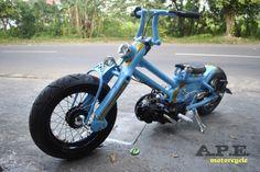 Custom Cub by Yuza Fumi of A.P.E. Kustom Motorcycle from Cirebon