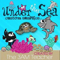 Under the Sea Custom Graphics Set by The 3AM Teacher!!