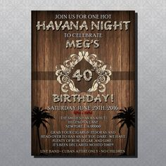 Custom Havana Nights Theme Party by YourDigitalDownloads on Etsy