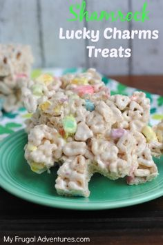 Lucky Charms Rice Krispies Treats Recipe {Perfect St Patrick's Day Treat!} - My Frugal Adventures