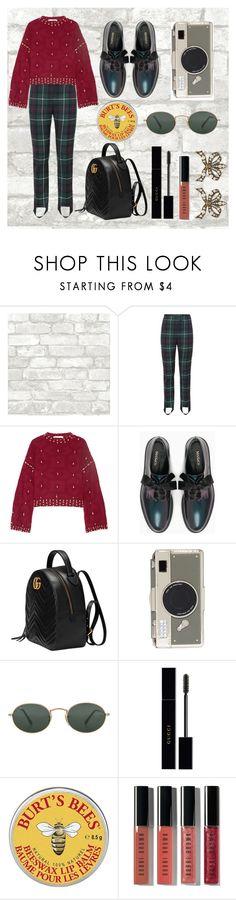 """rt"" by xxelectre on Polyvore featuring moda, Burberry, Jonathan Simkhai, Max&Co., Gucci, Kate Spade, Ray-Ban, Burt's Bees e Bobbi Brown Cosmetics"