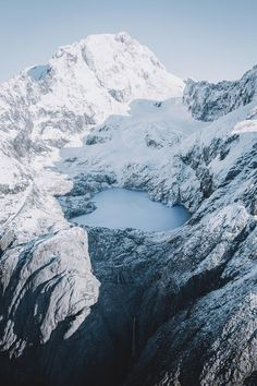 icy lake in the mountains