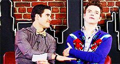 Darren keeps pressing the right button just to make Chris giggle....