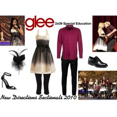 """""""New Directions (Glee) : Sectionals 2010"""" by aure26 on Polyvore"""