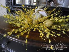 Bunny with Forsythia  $44.95 + shipping floral arrangement with bunny and eggs included