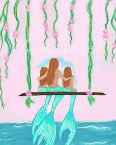 New Painting Mermaid Dreams Ideas Mermaid Wall Decor, Mermaid Art, Mermaid Bathroom, Art Vampire, Vampire Knight, Drawing For Kids, Art For Kids, Drawing Ideas, Art Adventure Time