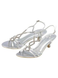 Silver Kitten Heel Strappy Sandal ($32) found on Polyvore ...