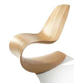 Contemporary wooden chair. Mario Botta