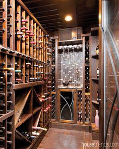 Remodel converts a laundry room to make way for wine storage. #housetrends