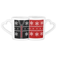 Ugly Christmas Sweater Reversible Design Lovers Mugs. http://www.zazzle.com/ugly_christmas_sweater_reversible_design-256784877145196448?rf=238575087705003771