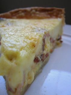 Bacon and Cheese Quiche. ***Repinning recipes from my Egg-cellent Recipe Board :))