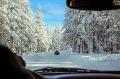 Snow and ice can dramatically change the driving conditions of a road. Credit: picture is in the public domain Under-road heating that melts ice and snow New Travel, Travel Goals, Travel Tips, Winter Road, Forest Road, Smoky Mountain National Park, Road Trip Hacks, Andorra, Great Smoky Mountains
