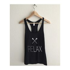 Relax LAX Lacrosse Racerback Tank Top  #swimsuit #fashionblog #desingerfashion #maxidress  #Mymallmetro #designer #apparel #clothes #clothing #dresses
