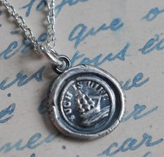 ship wax seal necklace