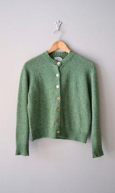 vintage 1960s Irish Moss wool cardigan     #vintage