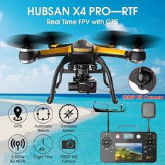 Amazon.com: Hubsan X4 Pro H109S 5.8G FPV With 1080P HD Camera 3 Axis Gimbal GPS RC Quadcopter: Toys & Games