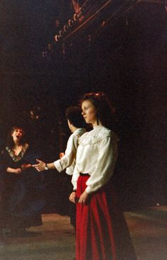 Restoration Theatre (rehearsal) Lucy Davidson, Ian Butler, Sarah Carter 1985