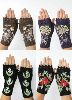 Quirky Handmade Fingerless Gloves Transform Winter Accessories Into Cozy…