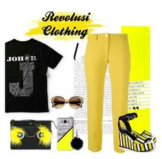 """""""yellow"""" by honeyatika ❤ liked on Polyvore featuring Versace, Fendi, Casetify, Just Cavalli and MICHAEL Michael Kors"""