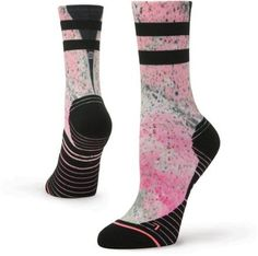 2017 NWT WOMENS STANCE ENDORPHIN CREW SOCKS $16 black athletic performance