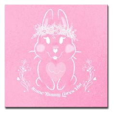 Ready2HangArt Some Bunny Loves You Wrapped Canvas Wall Art - VD003-MW1212