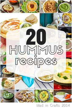 20 Delicious Hummus Recipes - Mad in Crafts