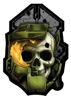 This series of skull parody Temporary Tattoos features a great mix of all your favorite iconic video game characters. No 1 Up's or extra lives for these characters, it's GAME OVER! Halo Tattoo, Tattoo Set, Gear Tattoo, Odst Halo, Cry Anime, Gears Of War 3, 12 Tattoos, Halo Game, Halo 7
