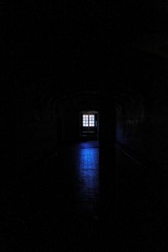 """♂ Darkness window and blue night """"Anyone there?"""" by Miguel Silva"""