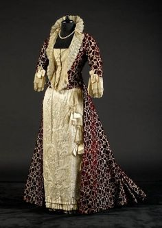 Evening dress ca. late 1870's-80's From the collection of Alexandre Vassiliev