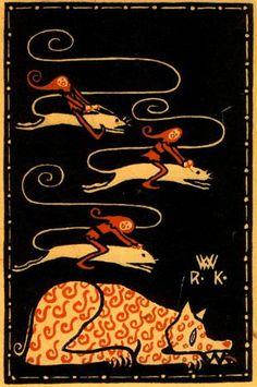 Rudolf Kalvach, Postkarte der Wiener Werkstätte, 1907/08