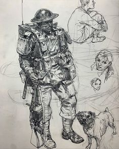 Character Portraits, Character Drawing, Character Design, Soldier Drawing, Monochromatic Art, Fantasy Drawings, Arte Sketchbook, Desenho Tattoo, Military Art