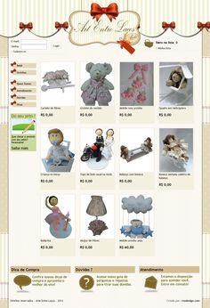 Loja virtual para venda de produtos de artesanato.
