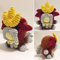 Entei häkeln / crochet by julygurumi. Follow me on Instagram for more!