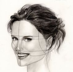 drawing a face in 3/4 view