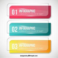 Banners de cristal para infografía