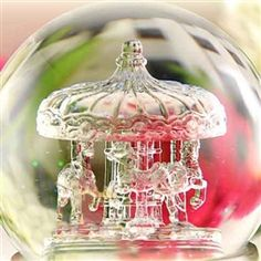 Ornate snow globes