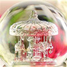 Ornate snow globes