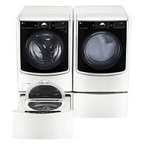 Ultra Large Capacity Front Load Washer, SideKick Pedestal Washer, and Dryer (Electric) with Laundry Pedestal Package -