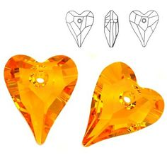 6240 Wild Heart 12mm Sunflower  Dimensions: 12,0 mm Colour: Sunflower 1 package = 1 piece
