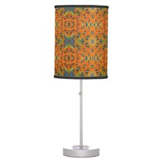 orange web lamp - patterns pattern special unique design gift idea diy