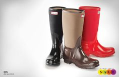 Hunter Rain Boots for the whole family! I love these because these coupled with the socks keep your feet toasty!