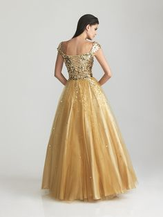 Night Moves Modest Prom Dress with Sequined Bodice 6810M