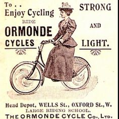 The bicycle actually changed the way women dressed...as did new sports that were becoming popular at the turn of the 20century. vintage bicycle ad