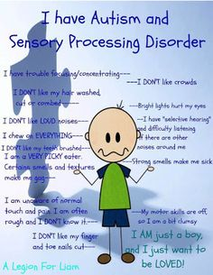 Asperger's syndrome is the mildest form of autism and includes higher functioning. Here are some of the common symptoms associated with Asperger's Syndrome. Sensory Disorder, Sensory Processing Disorder, Auditory Processing, Understanding Autism, World Autism Awareness Day, Autism Awareness Quotes, Autism Quotes, Autism Sensory, Sensory Integration