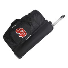 South Dakota Coyotes 26-in. Wheeled Drop-Bottom Duffel Bag, Black