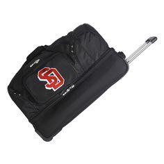 South Dakota Coyotes 26-in. Wheeled Drop-Bottom Duffel Bag, Black
